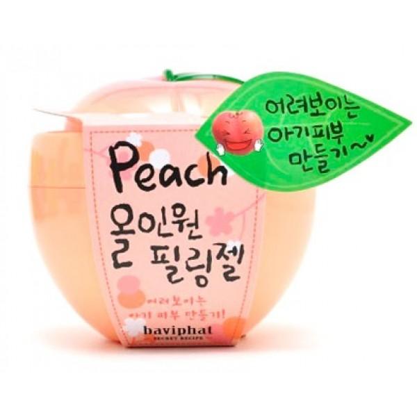 пилинг-скатка персиковая все-в-одном baviphat peach all-in-one peeling gelГелевый пилинг-гоммаж Peach All In One Peeling Gel&amp;nbsp;<br><br>&amp;nbsp;<br><br>Персиковая скатка – это не скраб. Это отличная альтернатива набившим оскому пилинговым средствам. Персиковая кожа отныне не мечта, а реальность! Экстракт персика смягчает, увлажняет, уменьшает шелушения сухой кожи, стимулирует обменные процессы. Является профилактическим средством, как для увядающей кожи, так и для кожи любого типа. Микроцеллюлоза в составе пилинга Baviphat Peach All in One Peeling Gel, легко, не травмируя кожу, абсорбирует излишки кожного жира, остатки макияжа и другие загрязнения.&amp;nbsp;<br><br>&amp;nbsp;<br><br>Почему «скатка»? Потому что после использования, средство собирается в серые, грязного цвета катышки. А ваше лицо приобретает нежность и аромат персика. Очаровательная розовая баночка в виде персика на вашем косметическом столике – это бесценный вариант «все-в-одном»:<br><br>&amp;nbsp;<br><br><br>забота о порах – очищение, сужение<br><br>нежное удаление отмерших клеток эпидермиса,<br><br>осветляющий фактор для тусклой кожи,<br><br>устранение следов усталости.<br><br><br>Способ применения: Наносить лучше на сухую кожу лица, так как субстанция достаточно подвижна. Образовавшиеся катышки смойте чистой водой.<br><br>Вес г: 100.00000000
