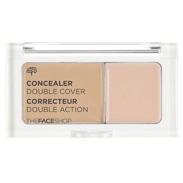 двойной консилер the face shop n.tfs.b concealer double coverN.TFS.B Concealer Double Cover. Консилер<br><br>Использование двойного консилера помогает выровнять тон кожи, освежить цвет лица, сделать его более ухоженным. Многофункциональное средство позволяет создать безупречный макияж. Консилер состоит из 2 частей:<br><br><br>Меньшая часть средства – консилер для области вокруг глаз. Мягко и нежно ложится на кожу, хорошо распределяется и создает идеальное покрытие, маскируя темные круги под глазами и стирая с лица следы недосыпа и усталости.<br><br>Большая часть средства – консилер для точечного нанесения. Позволяет замаскировать воспаления, веснушки, пигментные пятна, купероз, акне и другие несовершенства.<br><br><br>Помимо прекрасный маскирующих свойств консилер ухаживает за кожей: увлажняет и успокаивает ее, предупреждает появление сухости и шелушений. Комплекс натуральных компонентов (экстракты клубники, ромашки, крапивы и др.) при регулярном применении консилера улучшает состояние кожи: уменьшается количество высыпаний и предупреждается появление новых, кожа оздоравливается, становится более гладкой и упругой, улучшается цвет лица.<br><br>Консилер мягко распределяется, быстро впитывается и не оставляет следов. Не забивает поры. Представлен в двух оттенках:<br><br><br>№201 Apricot Beige – абрикосовый беж<br><br>№203 Natural Beige – натуральный беж<br><br><br>Способ применения: Нанести маленький консилер на зону под глазами, а затем замаскировать несовершенства большим.<br><br>Вес г: 50.00000000