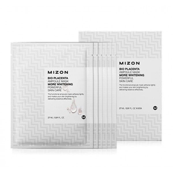 маска листовая mizon bio ampoule mask