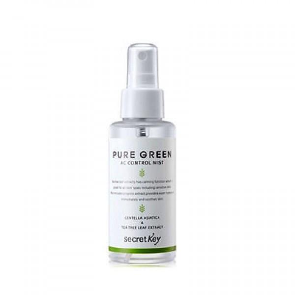 мист для лица с экстрактом чайного дерева secret key pure green ac control mist