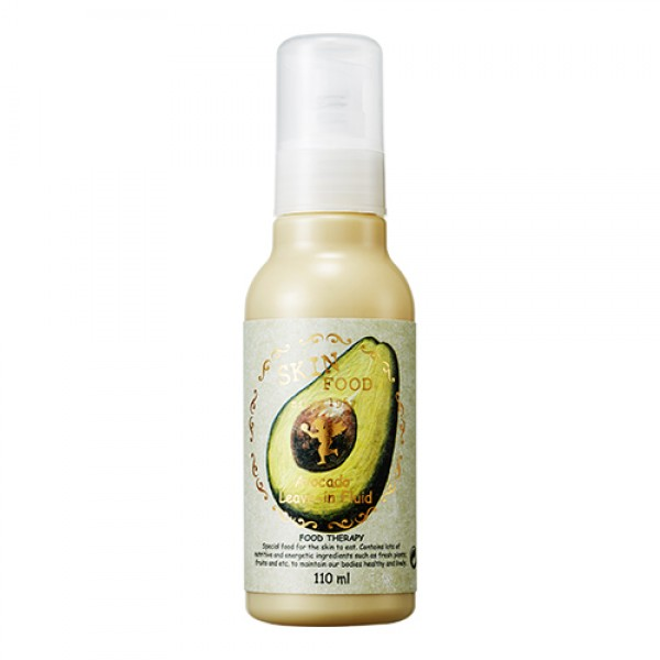 флюид для волос с экстрактом авокадо skin food  avocado leave-in fluidAvocado Leave-In Fluid – Увлажняющий флюид с авокадо<br><br>Рекомендуется для ослабленных, сухих, поврежденных ежедневной укладкой, пересушенных волос. Легкая формула флюида интенсивно питает, восстанавливает эластичность волос, не утяжеляя их.<br><br>Содержит концентрированный экстракт плодов авокадо, благодаря чему обеспечивает глубокое лечебное питание поврежденных, пересушенных волос.<br><br>Экстракт авокадо занимает первое место среди всех фруктов и овощей по содержанию витамина Е, тиамина и рибофлавина, благодаря чему глубоко проникает в структуру волос, обеспечивая их питанием.<br><br>Благодаря высокому содержанию питательных веществ, увлажняет глубокие слои кожи головы, предотвращая появление перхоти.<br><br>Обладая регенерирующим и восстанавливающим действием, уменьшает пагубное воздействие окружающей среды, сохраняет молодость волос.<br><br>Флюид с высоким содержанием натуральных и отсутствием вредных компонентов оздоравливает волосы, день за днем делает их более красивыми, яркими, ухоженными.<br><br>Способ применения: Нанести небольшое количество флюида на влажные волосы после применения шампуня. В лечебных целях рекомендуется наносить массажными движениями достаточное количество флюида на волосы и кожу головы перед сном. Оставить на ночь, утром ополоснуть волосы с шампунем.<br><br>Объём: 110 мл<br>