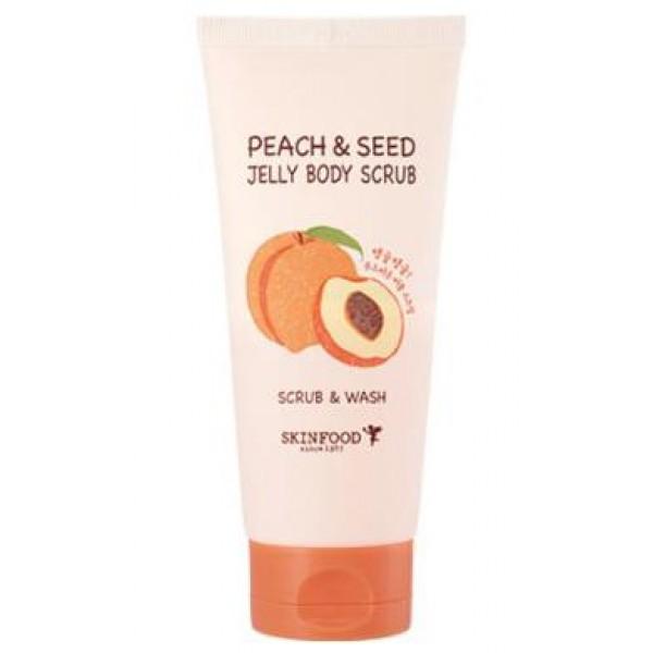 гелевый скраб для тела с экстрактом персика skin food  peach &amp; seed jelly body scrubPeach &amp;amp; Seed Jelly Body Scrub. Гелевый скраб для тела с экстрактом персика<br><br>Мягкая гелевая текстура, безопасные абразивные частички и сочный аромат персика сделают применение скраба не только полезным для кожи, но и невероятно приятным для настроения.<br><br>Скраб и моющее средство в одном флаконе!<br><br>В качестве скрабирующих частиц выступают скорлупа кокоса и грецкого ореха, а также цедра апельсина, которые способствуют отшелушиванию ороговевших клеток, деликатно полируют кожу, делают ее гладкой и шелковистой. Также скраб помогает удалить с кожи повседневные загрязнения, кожный жир, устраняет шелушения.<br><br>Средство отшелушивает мертвые клетки, делает кожу мягкой, увлажненной, эластичной. Выравнивает микрорельф кожи, придает коже гладкость и упругость. Стимулирует циркуляцию кожи и обмен веществ.<br><br>Экстракт персика оказывает увлажняющее, питательное, витаминизирующее действие. Освежает и разглаживает кожу. Способствует хорошему питанию, увлажнению, смягчению и омоложению кожи и существенному улучшению ее внешнего вида.<br><br>Подтягивает и делает более эластичной и упругой кожу тела, снимает разного рода раздражения и воспаления, устраняет шелушение и сухость, замечательно смягчает, увлажняет и питает кожу, способствует улучшению цвета и предотвращает ее иссушение.<br><br>Способ применения: Нанести скраб на влажную кожу и помассировать 2-3 минуты, затем смыть теплой водой. Для более эффективного очищения нанести средство на сухую кожу. Применять 1-2 раза в неделю.<br><br>Вес: 200 г<br><br>Вес г: 200.00000000