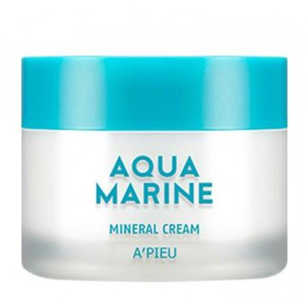 увлажняющий крем с минералами apieu aqua marine mineral creamAqua Marine Mineral Cream.&amp;nbsp;Увлажняющий крем с минералами<br><br>Нежный, легкий, освежающий – этот крем на 30% состоит из чистейшей морской воды, а также содержит морские водоросли и натуральные экстракты.<br><br>Чистейшая морская вода, добываемая с глубины 1500 метров, насыщает кожу невероятным минеральным коктейлем, благодаря которому улучшается микроциркуляция крови, нормализуется кислотно-щелочной баланс, клетки кожи очищаются от шлаков и токсинов, уменьшается отечность лица. Морская вода тонизирует и одновременно успокаивает кожу, устраняет зуд и раздражения, ускоряет регенерацию клеток, способствует повышению упругости и разглаживанию морщин, улучшает цвет лица.<br><br>Крем приятно обволакивает кожу, увлажняет ее, дарит чувство комфорта, успокаивает. Впитываясь, крем не ославляет неприятной липкости или жирного блеска. Кожа становится мягкой, влажной и напитанной.<br><br>Регулярное применение крема, а также других средств линии Aqua Marine Mineral, способствует поддержанию оптимального уровня влаги, приводит к разглаживанию сухих морщин, возникших из-за нехватки влаги. Кроме того, постепенно исчезают различные покраснения и раздражения, лицо обретает здоровую свежесть и сияние.<br><br>Способ применения: Нанести на очищенную и тонизированную кожу.<br><br>Объём: 50 мл<br>