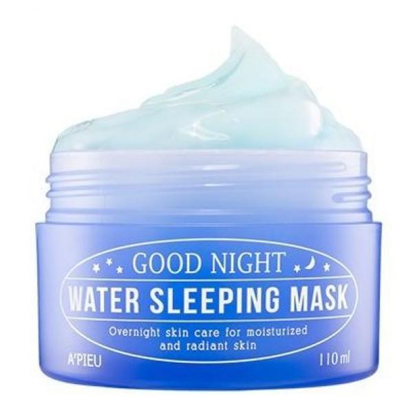 ночная увлажняющая маска для лица apieu good night water sleeping maskGood Night Water Sleeping Mask.&amp;nbsp;Ночная увлажняющая маска для лица<br><br>Работает пока вы спите. Насыщает кожу необходимым количеством воды, улучшает состояние кожи, оказывает антивозрастной эффект, делает вашу кожу свежей и отдохнувшей.<br><br>Cодержит березовый сок, морской коллаген,экстракт цветков ромашки и экстракт цветков лаванды.<br><br>Березовый сок – это универсальное иэффективное косметическое средство, которое подходит для любого типа кожи. Более того, березовый сок можно применять для ухода за собой совершенно в любом возрасте. Сок березы имеет богатый состав.<br><br>Cок содержит витамины, углеводы, минералы, фитонциды, органические кислоты.<br><br>Березовый сок богат сапонинами, дубильными веществами, эфирными маслами, фруктовыми сахарами, бетулолом. Кальций, магний, медь, калий, натрий, марганец входят в березовый сок – сок березы считается настоящим эликсиром здоровьябом возрасте.<br><br>Способ применения: нанесите маску перед сном,утром смойте теплой водой.<br><br>Объем: 110 мл<br>