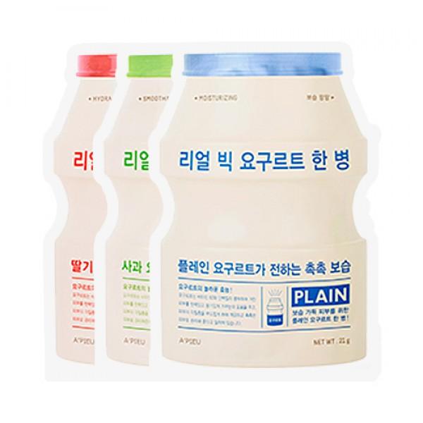 маска разглаживающая с экстрактом йогурта apieu real big yogurt bottleReal Big Yogurt Bottle. Маска разглаживающая с экстрактом йогурта<br><br>Одноразовая маска для лица содержит молочную кислоту и бактерии для восстановления защитного барьера кожи. Придает мягкость, полирует и отшелушивает кожу.<br><br>Глубоко увлажнит вашу кожу и сделает её нежной и мягкой.<br><br>Экстракт йогурта и его компоненты помогают укрепить защитный барьер кожи.<br><br>Варианты:<br><br><br>Strawberry<br><br>Apple<br><br>Plain<br><br><br>Способ применения:<br><br>1. Очистите лицо и высушить его.<br><br>2. Нанесите маску на лицо и держите 15-20 минут, пока отдыхаете.<br><br>3. Снимите маску и помассируйте кожу лица, пока остатки полностью абсорбируются.<br><br>Вес: 21 г<br><br>Вес г: 21.00000000