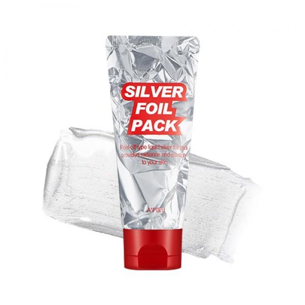маска-пленка с эффектом фольги apieu silver foil packSilver Foil Pack. Маска-пленка с эффектом фольги<br><br>Жидкая текстура маски создает эффект фальгирования. Восстанавливает эластичность и способствует смягчению тургора кожи. Удаляет ороговевшие клетки кожи, способствует мягкости и гладкости эпидермиса.<br><br>Экстракт жемчуга помогает поддерживать уровень влаги кожи и предотвращает ее сухость, также его кристаллическое строение отражает УФ радиацию. Содержит натуральные вещества и минералы, уникально сочетающиеся между собой; они способствуют содержать кожу нежной, мягкой и эластичной. Предотвращает пигментацию кожи, замедляя развитие меланина, который контролирует пигменты цвета кожи. Жемчуг почти на 100% состоит из минеральных солей. Усиливает кровообращение, улучшает цвет кожи и выравнивает ее рельеф.<br><br>Экстракт лаванды балансирует обменные процессы в коже, обладает тонизирующим и подтягивающим свойством. Смягчает, балансирует выделение себума, уменьшает раздражение и шелушение кожи. Улучшает микроциркуляцию, имеет противовоспалительное и антибактериальное действие. Снимает стресс. Обладает сильным антисептическим, бактерицидным и регенерирующим действием.<br><br>Способ применения: Наносите маску на сухую, читую кожу, избегая области глаз и губ. Оставьте на 20-30 минут. После высыхания снимайте маску снизу вверх плавными движениями.<br><br>Объем: 60 мл.<br>