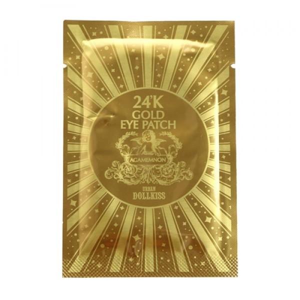 патч для глаз гидрогелевый с 24к золотом baviphat agamemnon 24k gold hydrogel eye patchUrban Dollkiss Agamemnon 24K Gold Hydrogel Eye Patch. Патч для глаз гидрогелевый с 24К золотом<br><br>Для драгоценного сияния, молодости и красоты Вашего лица созданы эти роскошные гидрогелевые патчи для глаз! Обогащены омолаживающими и комплексно оздоравливающими компонентами, которые интенсивно и глубоко восстанавливают кожу. Патч для кожи вокруг глаз, пропитанный уникальный по своему составу препаратом, действенно увлажняет эпидермис и препятствует излишнему испарению воды. Маска способствует делению клеток, тем самым восстанавливая кожный покров и делая его более гладким и молодым.<br><br>Urban Dollkiss Hydrogel Eye Patch содержит, кроме коллоидного золота, витаминно-минеральный комплекс и целебные растительные экстракты. Таким образом, после применения патча кожа век разглаживается и сохраняет оптимальный гидробаланс.Патчи глубоко увлажняют нежную кожу, разглаживают морщинки, укрепляют и снижают потерю влаги в клеточках кожи, что позволяет сохранить молодость и красоту. Обладают укрепляющим и лифтинговым действием. Патчи обогащены ценными компонентами:&amp;nbsp;<br><br><br>24К золотом - действует в качестве проводника, улучшая проникновение активных веществ в клеточки кожи, повышает эффективность косметичеких средств. Также коллоидное золото работает и как основной ухаживающий компонент, насыщая клетки кожи кислородом, улучшая обменные процессы и омолаживая.<br><br>Экстракт солодки - антивозрастное средство, способствует быстрой регенерации клеток кожи.<br><br>Экстракт алоэ вера - увлажняет, освежает, снимает отечность.<br><br><br>Патчи значительно замедляют старение кожи и способствуют повышению естественных механизмов защиты. Ваше лицо становится ухоженным, свежим, сияющим!<br><br>Способ применения: патчи прикладывают на очищенную кожу на 25-30 минут (после снятия оставшуюся эссенцию необходимо вбить в кожу кончиками пальцев).<br><br>&amp;nbsp;<br><br>Вес г: 2.80000000