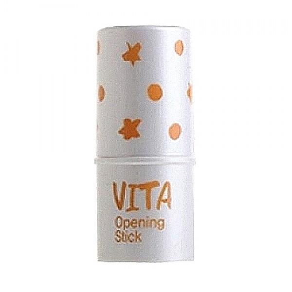 стик для глаз осветляющийUrban DollKiss City Vita Openning Stick. Стик для глаз осветляющий<br><br>Компактный карандашик-стик предназначен для увлажнения кожи век и для мягкого осветления. Высокое содержание витамина С в составе средства способствует осветлению кожи.<br><br>&amp;nbsp;<br><br>При нанесении стик освежает кожу, делает ее более эластичной и упругой, а при регулярном применении осветляет нежелательную пигментацию, уменьшает темные круги под глазами и отечность, устраняет тусклость кожи.<br><br>&amp;nbsp;<br><br>Экстракт лимона – защищает кожу от разрушительного воздействия свободных радикалов, ускоряет клеточный метаболизм, подавляет синтез меланина, благодаря чему осветляются существующие пигментные пятна и предотвращается появление новых, кожа становится светлее и свежее.<br><br>&amp;nbsp;<br><br>Также в составе стика экстракты малины, апельсина, гиацинта, ромашки, огуречника, василька, розмарина, масла подсолнечника, кукурузы и мускусной розы, а также вода лаванды, которые усиливают осветляющее, оздоравливающее и омолаживающее действие: увлажняют, питают, смягчают кожу, оказывают антиоксидантную защиту.<br><br>&amp;nbsp;<br><br>В результате кожа вокруг глаз становится светлее, а взгляд более ясным и свежим.<br><br>&amp;nbsp;<br><br>Способ применения: Нанести средство на кожу век и распределить аккуратными движениями.<br><br>&amp;nbsp;<br><br>Вес: 9 гр.<br><br>Вес г: 9.00000000