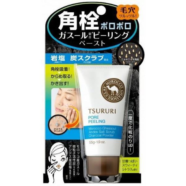 очищающий поры пилинг bcl tsururi pore clear peelingTsururi Pore Clear Peeling. Очищающий поры пилинг глубоко очищает, разглаживает, смягчает кожу, выравнивает ее цвет.<br><br>В порах кожи скапливаются загрязнения, продукты выделения сальных желез и остатки косметических средств (пудры, тонального крема). Активные компоненты пилинг-геля, глубоко проникая в поры кожи, абсорбируют и удаляют загрязнения, которые, как известно, часто становятся причиной появления чёрных точек и расширенных пор.<br>Мельчайшие частицы пилинга скатывают загрязнения, способствуя их быстрому и эффективному удалению из пор.<br>Активные компоненты: марокканская глина Гассуль - природный очищающий компонент, гранулы активированного древесного угля обладают абсорбирующими свойствами, частицы каменной соли отшелушивают ороговевшие участки кожи, экстракт артишока сужает поры, гиалуроновая кислота увлажняет, экстракт перечной мяты и ментол - охлаждающие компоненты.<br>Обладает освежающим ароматом грейпфрута.<br><br>Способ применения: нанесите достаточное количество средства на сухую или слегка влажную кожу. Бережно помассируйте круговыми движениями, затем тщательно смойте теплой водой. Применяйте 1-2 раза в неделю.<br>Не применяйте средство для кожи вокруг глаз. При попадании пилиг-геля в глаза сразу же промойте их водой.<br><br>Меры предосторожности: не использовать при появлении покраснений, зуда, раздражения кожи. В случае возникновения аллергических реакций, прекратите использование средства и проконсультируйтесь с дерматологом. Храните вдали от прямых солнечных лучей при температуре, приближенной к комнатной.<br><br>Состав: вода, микрокристаллическая целлюлоза, BG, акрилат/С10-30 алкил акрилат кроссполимер, дикокодимониум хлорид, стеарилтримониум бромид, экстракт артишока, экстракт апельсина, экстракт грейпфрута, экстракт боярышника, экстракт листьев перечной мяты, экстракт жожоба, экстракт гамамелиса, гиалуронат натрия, экстракт лайма, экстракт яблока, экстракт лимона, экстракт листьев розмар