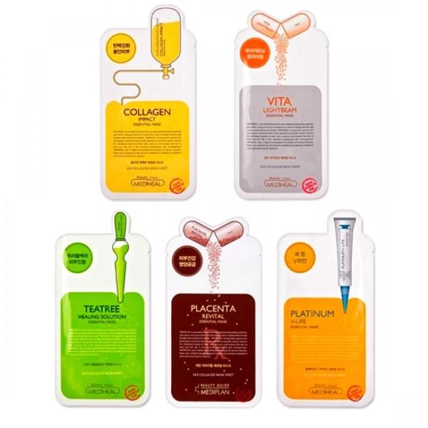маска для лица beauty clinic essential maskEssential Mask. Маска для лица&amp;nbsp;<br><br><br>Vita Lightbeam - Осветляющая маска с витаминами С, Е и гамма - оризанолом сделает менее заметными веснушки и пигментные пятна. Ваша кожа станет сияющей и здоровой.<br><br><br>Активные компоненты: Гамма - оризанол - масляный экстракт из рисовых отрубей. Стимулирует образование новых клеток, способствует регенерации кожного покрова, предупреждает появление морщин, повышает упругость и эластичность кожи, обладает противовоспалительным, антиоксидантным действием, регулирует уровень влаги в коже. Прекрасно ухаживает за кожей, склонной к гиперпигментации.<br><br>Витамин С участвует в синтезе коллаген а, улучшает углеводный и липидный обмен, нормализует проникаемость капилляров, ускоряет регенерацию тканей. Обладает антиоксидантными свойствами, которые возрастают в комбинации с витамином Е. Протеины пшеницы насыщают кожу питательными веществами, придают ей свежий и здоровый вид. Нежная маска из целлюлозы обеспечит глубокое проникновение питательных веществ.<br><br>&amp;nbsp;<br><br><br>Revital - &amp;nbsp;Маска для лица с экстрактом плаценты Placenta Revital Essential Mask - Подтягивающая маска содержит экстракт плаценты - компонент премиум класса, который придает коже упругость, питает и насыщает ее влагой, защищает от сухости.&amp;nbsp;<br><br><br>Результат - увлажненная и гладкая кожа. Гидролизованная плацента &amp;nbsp;и хитозан обеспечивают вашей коже достаточную эластичность и питание, а также сохраняют сияние и здоровье кожи. Плацента содержит белки, нуклеиновые кислоты, аминокислоты, витамины, минералы, иммуностимуляторы, ферменты и другие активные субстанции. Плацента активирует обновление клеток кожи, обеспечивая доступ необходимых питательных веществ и удаление продуктов жизнедеятельности клеток (например, скопления меланина и возрастного кератина) Пептиды, входящие в состав плаценты, стимулируют синтез коллаген а, улучшают упругость кожи, разглаживают глубокие морщины