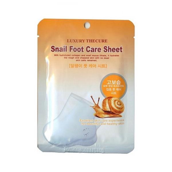 маска для ног с экстрактом слизи улитки beauty clinic snail foot care sheetSnail Foot Care Sheet. Маска для ног с экстрактом слизи улитки - маска - носочки для ног с экстрактом слизи улитки прекрасно ухаживает за кожей ног, а также за кутикулой и ногтями на ногах. Глубоко увлажняет, смягчает и восстанавливает сухую и потрескавшуюся кожу ног.<br><br>Активные компоненты:<br><br><br>&amp;nbsp;&amp;nbsp;&amp;nbsp; Масло мяты, экстракты листьев камелии, папайи, шелковицы, розы интенсивно ухаживают за ногами, придают коже ступней мягкость и шелковистость.<br><br>&amp;nbsp;&amp;nbsp;&amp;nbsp; Экстракт слизи улитки регенерирует, делает кожу более гладкой и эластичной.<br><br><br><br>Маска для ног – это превосходный завершающий этап ухода за ногами.<br><br>Способ применения: вымойте ноги теплой водой, откройте упаковку, наденьте носки на ноги, через 20 мин. снимите. Оставшуюся эссенцию равномерно распределите по коже массирующими движениями.<br><br>Меры предосторожности: при покраснении, зуде, раздражении после применения прекратите использование средства и проконсультируйтесь с врачом-дерматологом. При попадании в глаза сразу же промойте их водой. Храните в недоступных для детей местах. Не храните в местах повышенных/пониженных температур, избегайте попадания прямых солнечных лучей.<br><br>Состав: вода, глицерин, пропилен гликоль, цетиловый спирт, вазелин, полисорбат&amp;nbsp; 60, бетаин, экстракт слизи улитки 0,8%, пантенол, трегалоза, экстракт листьев камелии японской, экстракт папайи, экстракт шелковицы, экстракт столепестковой розы, гидролизованный коллаген, карбомер, триэтаноламин, EDTA-2Na, метилпарабен, пропилпарабен, масло мятное.<br><br>Объем: 8 мл. * 2шт.<br>
