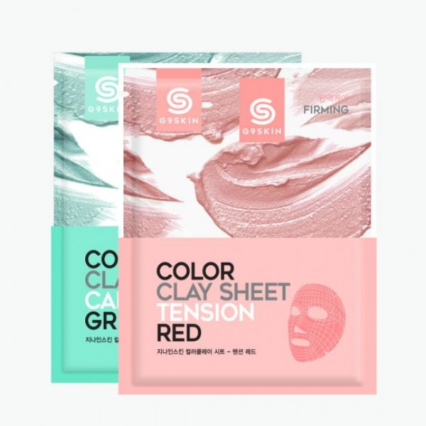 маска для лица тканевая berrisom g9 skin color clay sheetG9 Skin Color Clay Sheet. Маска для лица тканевая<br><br><br>G9 Skin Color Clay Sheet-Calming Green. Маска для лица тканевая зеленая<br><br><br>Зеленая глиняная маска содержит Марокканскую глину и порошок древесного угля.<br><br>Маска заботится о коже лица и порах, чтобы добиться гладкой и мягкой кожи.<br><br><br>G9 Skin Color Clay Sheet-Tension Red. Маска для лица тканевая красная<br><br><br>Красная глиняная маска содержит Марокканскую глину, порошок угля и вулканическй пепел, чтобы улучшить упругость кожи.<br><br>Способ применения:<br><br>1. После умывания, снимите прозрачную пленку и положите лист на лицо.<br><br>2. Через 40 минут снимите лист и промокните остатки жидкости на лице для поглощения.<br><br>Вес: 20 г<br><br>Вес г: 20.00000000