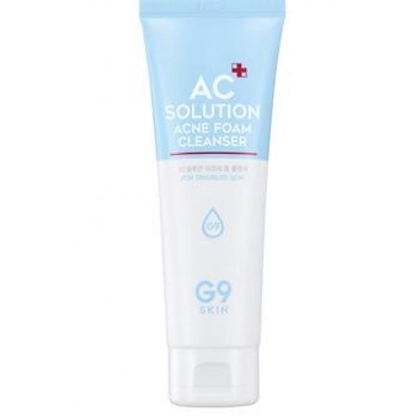 пенка для умывания для проблемной кожи berrisom ac solution acne foam cleanserAC Solution Acne Foam Cleanser.&amp;nbsp;Пенка для умывания для проблемной кожи<br><br>Очищение проблемной кожи – процесс достаточно сложный. Необходимо правильно подобрать средство, которое не провоцировало бы появление сухости, стянутости или зуда. Одновременно это средство должно обеспечивать эффективное очищение не только от поверхностных загрязнений, но и удалять ороговевшие частицы эпидермиса, удалять кожный жир, которые обладают способностью забивать сальные протоки и тем самым провоцировать появление новых воспалений. Кроме того, средство должно безопасно для кожи убивать различные патогенные микроорганизмы.<br><br>Именно с этими функциями отлично справляется пенка G9Skin из линии средств AC Solution. Пенка способствует эффективному очищению проблемной кожи, одновременно увлажняет и успокаивает ее, оказывает противовоспалительное, антибактериальное и антисептическое действие, удаляет избыток кожного жира, не пересушивая при этом кожу.<br><br>В составе пенки мощный лечебно-профилактический комплекс натуральных экстрактов центеллы азиатской, зеленого чая, грейпфрута и др., которые помогают справиться с существующими воспалениями и предупредить появление новых.<br><br>Способ применения: Вспенить средство с небольшим количеством воды, нанести на кожу лица, помассировать 2-3 минуты, затем смыть теплой водой.<br><br>Объём: 120 мл<br>