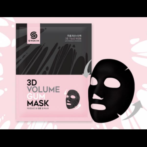маска для лица омолаживающаяG9 3d Volume Gum Mask. Маска для лица омолаживающая<br><br>Нежная, как шелк, легкая, как бутон хлопка. Тканевая маска невесомо окутывает лицо, повторяя его контуры и идеально спорикасаясь с кожей, отдает ей всё, чем пропитана.<br><br>Маска предназначена для омоложения кожи по двум направлениям: разглаживание морщин и осветление пигментации.<br><br>В составе маски мощный антивозрастной и осветляющий комплекс, благодаря чему она оказывает мощное регенерирующее, увлажняющее, смягчающее действие, глубоко питает. Способствует осветлению пигментных пятен, корректирует неровный тон кожи, смягчает следы постакне и поствоспалительную гиперпигментацию. Стимулирует синтез коллагена и эластина, смягчает и подтягивает кожу, расслабляет лицевые мышцы, что способствует разглаживанию морщин.<br><br>Благодаря наличию антиоксидантов защищает кожу от агрессивного воздействия ультрафиолета и свободных радикалов.<br><br>Способ применения: На чистое лицо приложить маску, разгладить ее и оставить на 10-20 минут. Затем маску снять и дать впитаться остаткам эссенции.<br><br>Объем: 23 мл<br>