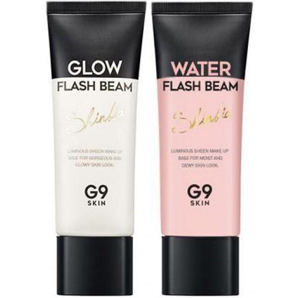 база для макияжа berrisom g9 flash beam shinbiaG9 Flash Beam Shinbia. База для макияжа&amp;nbsp;<br><br>Усталость и недостаток сна оставили явный отпечаток на лице? Кожа тусклая и настроение тоже? Сияющий мейк-ап, как волшебным ластиком, сотрет с лица следы усталости, сделает кожу свежей, а настроение отличным. А, может быть, предстоит важное мероприятие, на котором нужно выглядеть безупречно и сногсшибательно? Сияющий макияж позволит быть на высоте в такой ситуации.<br><br>Основа под макияж является важным этапом для создания такого макияжа. Это средство подготовит кожу к нанесению последующих средств и позволит добиться идеально ровного тона лица. Легкая текстура и светоотражающие частицы помогают безупречно нанести средство и визуально сгладить несовершенства кожи.<br><br>В составе базы от Berrisom натуральные масла и экстракты, которые увлажняют, питают и смягчают кожу, успокаивают ее и предупреждают появление шелушений, а при регулярном применении делают кожу более упругой и эластичной, способствуют разглаживанию морщин.<br><br>База представлена 2 вариантами:<br><br><br>01. Glow – сияющая база для тусклой кожи<br><br>02. Water – увлажняющая база для сухой кожи<br><br><br>Способ применения: Нанести на очищенное и тонизированное лицо, равномерно растушевать, продолжить нанесение макияжа.<br><br>Объём: 40 мл<br>