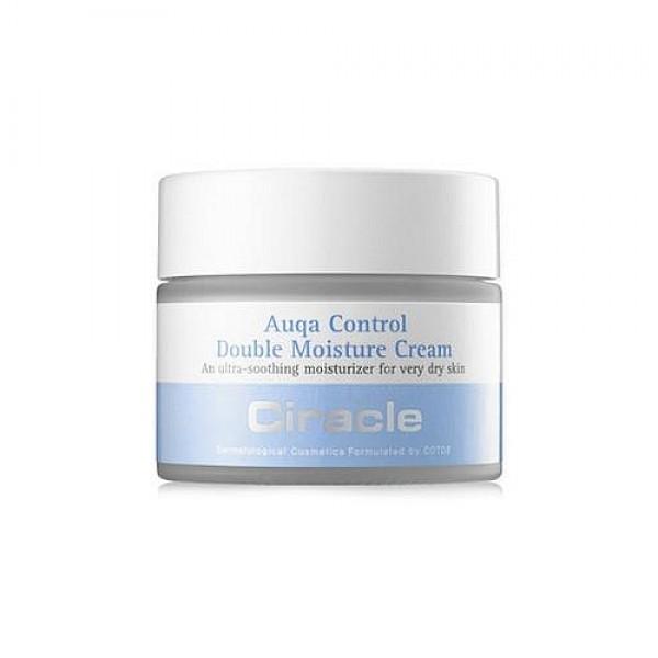 крем для лица двойное увлажнениеAqua Control Double Moisture Cream. Крем для лица Двойное увлажнение<br><br>Настоящее спасение для очень сухой кожи лица. Двойной увлажняющий крем от Ciracle подарит коже мгновенное и длительное увлажнение, естественное сияние и свежесть.<br><br>&amp;nbsp;<br><br>Благодаря сбалансированному составу крем сохраняет влагу в коже даже в самый жаркий или ветреный день, защищает от обезвоживания в помещениях с сухим воздухом и восстанавливает кожу в течение ночи.<br><br>&amp;nbsp;<br><br>Сквалан оказывает интенсивное увлажняющее действие, его молекулы легко встраиваются в липидный слой кожи и укрепляют его, препятствуя испарению влаги и облегчая состояние пересушенной и очень чувствительной кожи, устраняя шероховатости и шелушения. Сквалан усиливает клеточный иммунитет, оказывает противогрибковое действие и помогает бороться с бактериями. Делает кожу более эластичной и способствует разглаживанию мелких морщин, улучшает цвет лица.<br><br>&amp;nbsp;<br><br>Бета-глюкан способствует глубокому проникновению влаги в кожу, стимулирует синтез гиалуроновой кислоты. Является мощным антиоксидантом и природным фильтром агрессивного воздействия окружающей среды, минимизирует повреждение кожи УФ-лучами и предупреждает образование в коже опухолевых клеток из-за активного действия солнца. Тонизирует и освежает кожу, усиливает синтез эластина и коллагена, благодаря чему разглаживаются мелкие морщинки.<br><br>&amp;nbsp;<br><br>Масло манго способствует поддержанию оптимального увлажнения кожи при агрессивном воздействии факторов внешней среды (солнце, ветер, холод и мороз), защищает от вредного воздействия УФ-лучей. Возвращает коже утраченную упругость и эластичность, помогает разгладить мелкие мимические и более глубокие возрастные морщины. Осветляет кожу, избавляя ее от возрастной пигментации. Ускоряет регенерацию и заживление поврежденной кожи, устраняет шелушения и огрубения.<br><br>&amp;nbsp;<br><br>Керамиды &amp;nbsp;уменьшают избыточное испарение влаги