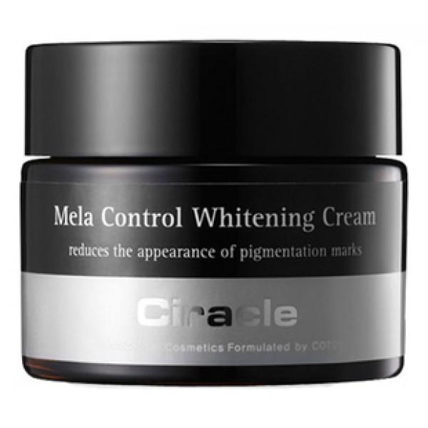 крем осветляющийMela Control Whitening Cream. Крем осветляющий<br><br>Некоторые отбеливающие косметические средства могут вызвать сухость кожи, что приводит к преждевременному появлению морщин и старению кожи лица.<br><br>В составе крема компоненты подобраны так, что крем приводит не только к осветлению пигментации, но и оказывает интенсивное увлажняющее действие.<br><br>Крем предназначен для любого типа кожи с нежелательной пигментацией. Активные компоненты крема регулируют синтез меланина, повышенное содержание которого и приводит к появлению различной пигментации.<br><br>Арбутин – вещество, получаемое из толокнянки, брусники, шелковицы и некоторых других растений. Снижая производство меланина, арбутин способствует осветлению веснушек, пигментации, вызванной старением, незащищенным пребыванием на солнце и гормональным дисбалансом. Являясь растительным компонентов, арбутин не оказывает агрессивного воздействия, чем многие химические отбеливающие компоненты.<br><br>Гиалуроновая кислота интенсивно увлажняет кожу, ускоряет синтез коллагена и эластина, способствует заживлению ран, влияет на иммунные реакции, защищает клетки от свободных радикалов, оберегает кожу от преждевременного старения. Создает на поверхности кожи незаметную тончайшую пленку, которая предотвращает испарение воды, сохраняя влагу внутри.<br><br>Аллантоин способствует заживлению поврежденных тканей, так как после его нанесения запускаются процессы быстрой регенерации клеток, одновременно с этим аллантоин снимает болевые ощущения, что очень важно для раздраженной кожи. Кроме того, в составе косметики этот компонент способствует размягчению рогового слоя и удалению отмерших клеток, что предупреждает закупорку пор и образование комедонов.<br><br>Также в составе крема: <br><br><br>масло ши,<br><br>масло жожоба,<br><br>экстракты сафлора,<br><br>шлемника байкальского,<br><br>солодки,<br><br>магнолии.<br><br>ромашки.<br><br><br>Применение крема во второй половине дня оказывает более выраженное действие.<br>
