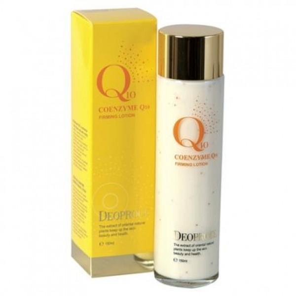 лосьон укрепляющий для лица с коэнзимом deoproce coenzyme q10 firming lotionCoenzyme Q10 Firming Lotion. Лосьон укрепляющий для лица с коэнзимом<br><br>Лосьон с коэнзимом Q10 укрепляет структуру кожи, увлажняет и подтягивает ее.<br><br>Коэнзим Q10 обеспечивает клетки кислородом, является антиоксидантом и защищает кожу от воздействия свободных радикалов. Также коэнзим Q10 способствует увлажнению и регенерированию кожи, способствует сужению пор.<br><br>В лосьоне содержится коллаген позволяющий поддерживать необходимый уровень увлажнения.<br><br>Способ применения: нанести на очищенную кожу лица и декольте, дождаться полного высыхания.<br><br>Объем: 150 мл<br>