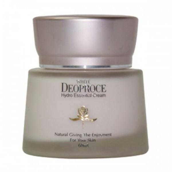 крем для лица увлажняющий deoproce white hydro essential creamWhite Hydro Essential Cream. Крем для лица увлажняющий<br><br>Отбеливающий и увлажняющий крем для лица питает, увлажняет и осветляет кожу.<br><br>В креме содержится арбутин, который естественным путем отбеливает пигментные пятна, веснушки и устраняет другие возрастные изменения или последствия незащищенного пребывания на солнце влияющие на цвет кожи. Так же арбутин выравнивает тон кожи и в целом оздаравливает ее состояние.<br><br>Нициамид улучшает эластичность кожи и тонизирует ее.<br><br>Экстракт зеленого чая и витамин Е защищают кожу от негативного влияния окружающей среды, снимают раздражения и возвращают здоровье.<br><br>Масло макадамии и жожоба обеспечивают необходимое увлажнение, поддерживают эластичность и упругость кожи.<br><br>Способ применения: наносить на чистую кожу массажными движениями до полного впитывания.<br><br>Объем: 60 мл<br>