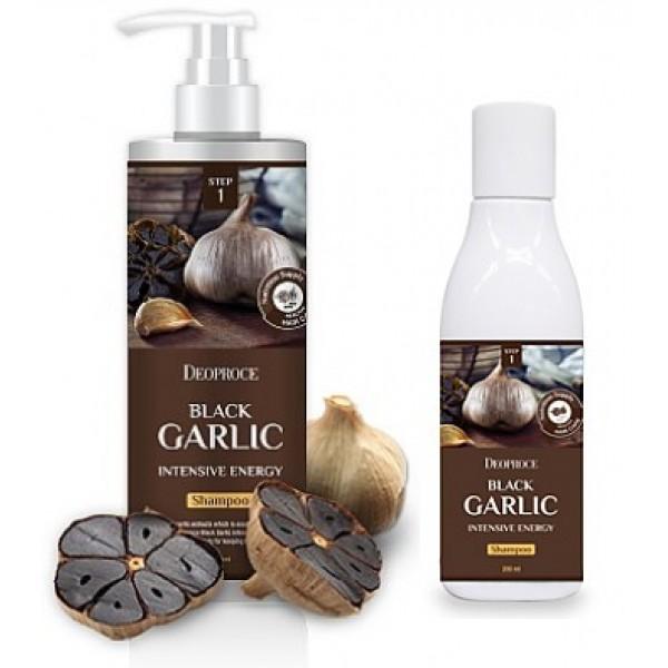 шампунь для волос с черным чесноком deoproce black garlic intensive energy shampooBlack Garlic Intensive Energy Shampoo. Шампунь для волос с черным чесноком<br><br>Черный чеснок – 100% натуральный продукт, который получают после 2-месячной термической обработки обычного чеснока. Помимо ценных вкусовых качеств, характеризуется высокой ценностью для красоты и здоровья волос.<br><br>&amp;nbsp;<br><br>Шампунь с черным чесноком подходит для всех типов волос, особенно рекомендован для сухих и ломких. Хорошо очищает кожу головы и волосы от загрязнений, а также оказывает ухаживающее действие.<br><br>&amp;nbsp;<br><br>Средство интенсивно питает и увлажняет, восстанавливает поврежденные окрашиваниями и завивкой волосы, улучшает кровообращение в коже головы и жизнедеятельность волосяных луковиц, тем самым способствует укреплению волос, предупреждает их выпадение и стимулирует рост, предупреждает появление преждевременной седины, защищает от внешних воздействий окружающей среды (холод, ветер, сырость, солнечные лучи).<br><br>&amp;nbsp;<br><br>При регулярном применении шампуня волосы становятся сильными, упругими, блестящими, лучше держатся в прическе.<br><br>&amp;nbsp;<br><br>Способ применения: Нанести шампунь на влажные волосы и кожу головы, помассировать, затем смыть теплой водой.<br><br>&amp;nbsp;<br><br>Объём: 1000 мл<br>
