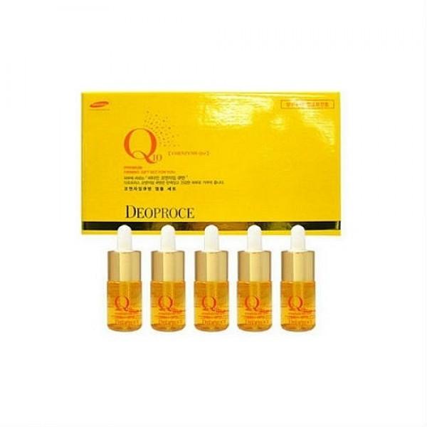 сыворотка ампульная для лица с коэнзимом deoproce coenzyme q10 firming ampoule set (5x10ml)