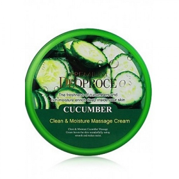 крем для лица и тела с экстрактом огурца deoproce natural skin cucumber nourishing cream
