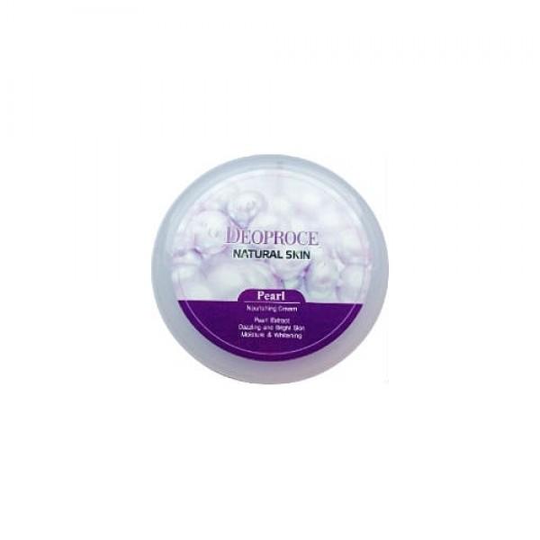 крем для лица и тела с экстрактом жемчуга deoproce natural skin pearl nourishingNatural Skin Pearl Nourishing. Крем для лица и тела питательный с экстрактом жемчуга<br><br>Нежная, бархатистая текстура крема увлажняет и питает, оставляя на коже приятный аромат. <br><br>&amp;nbsp;<br><br>Крем основан на экстракте жемчуга, который способствует повышению упругости и эластичности кожи, имеет регенерирующее действие, разглаживает мелкие морщинки, улучшает цвет лица.<br><br>&amp;nbsp;<br><br>Применение: Нанести крем на сухую кожу, легкими движениями втереть до полного впитывания.<br><br>&amp;nbsp;<br><br>Объем: 100гр<br><br>Вес г: 100.00000000