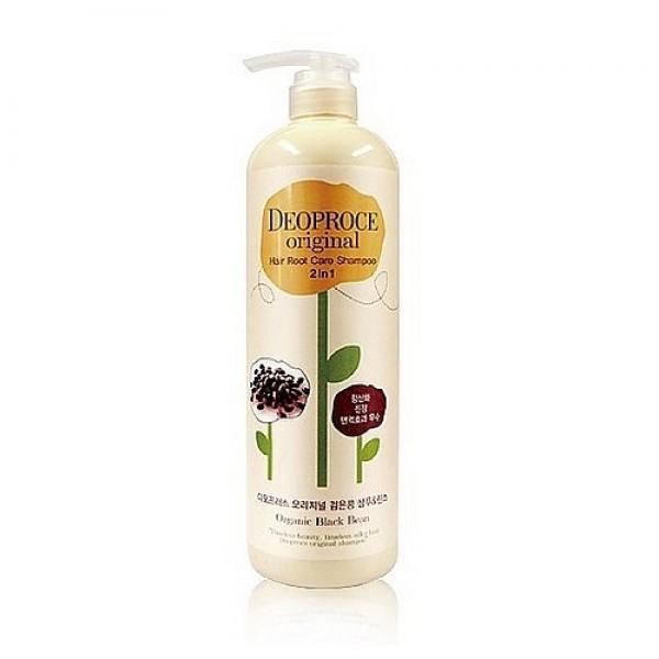 шампунь-бальзам 2 в 1 бобы deoproce original hair root care 2 in 1 shampoo black beanOriginal Hair Root Care 2 In 1 Shampoo Black Bean. Шампунь-бальзам 2 в 1 бобы<br><br>Интенсивный уход за корнями волос. Содержит вытяжку из Черных бобов. Помогает предотвратить выпадение, направлен на активный рост волос. Делает волсы здоровыми и шелковыми.<br><br>&amp;nbsp;<br><br>Регулярное применение шампуня, способствует здоровому росту волос. Подходит для всех типов волос.<br><br>&amp;nbsp;<br><br>Применение: нанести средство на мокрые волосы, массажными движениями тщательно втереть в кожу головы и волосы, оставить на 1 минуту, смыть теплой водой.<br><br>&amp;nbsp;<br><br>Объем: 1000мл<br>