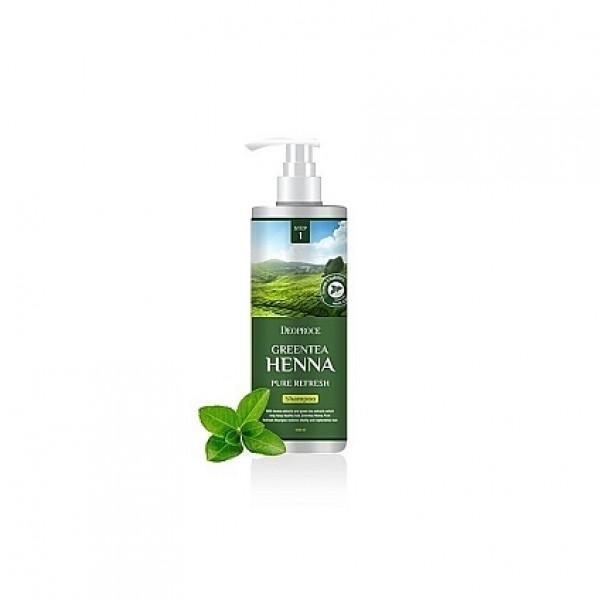 бальзам для волос с зеленым чаем и хной deoproce rinse - greentea henna pure refreshRinse - Greentea Henna Pure Refresh. Бальзам для волос с зеленым чаем и хной смягчающий<br><br>Содержит экстракты зеленого чая, камелии, бесцветная хна и гидролизованный коллаген. Витаминизирует луковицу и волос по всей длине, заряжая энергией и придавая блеск. <br><br>&amp;nbsp;<br><br>Уменьшает перхоть, укрепляет корни волос и отлично кондиционирует волосы, придавая им густоту и блеск.<br><br>&amp;nbsp;<br><br>Способствует улучшению качества волос, повышает их эластичность и прочность, благоприятно влияет на поврежденные и секущиеся волосы, защищает от преждевременного выпадения волос.<br><br>&amp;nbsp;<br><br>Применение: на чистые, влажные волосы нанести бальзам, распределить по всей длине, оставить на 2-3 минуты, смыть теплой водой.<br><br>&amp;nbsp;<br><br>Объем: 1000мл<br>