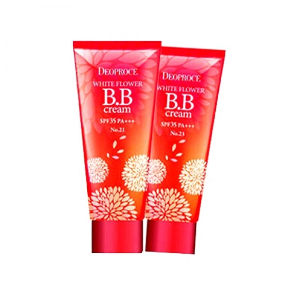 крем бб deoproce white flower bb cream spf35 pa+++