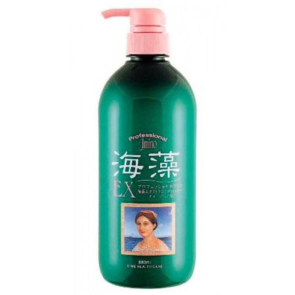 кондиционер-экстра для поврежденных волос dime professional amino ex conditionerProfessional Amino Seaweed EX Conditioner. Кондиционер-экстра для поврежденных волос с аминокислотами морских водорослей прекрасно подходит для ухода за поврежденными и сухими волосами. Мягко очищает волосы, увлажняет и придает им гладкость. <br><br>Входящие в состав кондиционера аминокислоты, полученные из морских водорослей - это энергетически богатые вещества, оживляющие обменные процессы в коже головы, богатые:<br>- витаминами Е и С, обеспечивающими антиоксидантный эффект;<br>- полисахаридами, обладающими влагосберегающими свойствами;<br>- линолевой кислотой, которая возвращает волосам первозданную красоту, блеск и мягкость.<br>Благодаря содержанию аминокислотных масел кондиционер повышает способность волос удерживать влагу, защищает волосы от воздействия УФ-лучей, предотвращает вымывание цвета. Обладает свежим мускатным ароматом зеленых цветов.<br><br>Применение: нанесите на чистые волосы, распределите, промойте теплой водой.<br><br>Состав: вода, цетиариловый спирт, ланолин, BG, масло орехов макадамии, диметикон, ПГ-тримониумхлорид, гликольстеарат, кополимер (аминоэтиламипропилметикон / диметикон), экстракт чая, экстракт рисовых отрубей, изостеариновая кислота, полижирная кислота (С14-28), жирная кислота (С14-28), токоферол, лауроилглутаминовая кислота ди (фитостерил / октилдодецил), глицерин, 1. 2-гександиол, гидролизованный лецитин, полиглицерил-10 лауринат, стеариновая кислота, сорбитанстеарат, феноксиэтанол, BHT, метилпарабены, пропилпарабены, этанол.<br><br>880 мл.<br>
