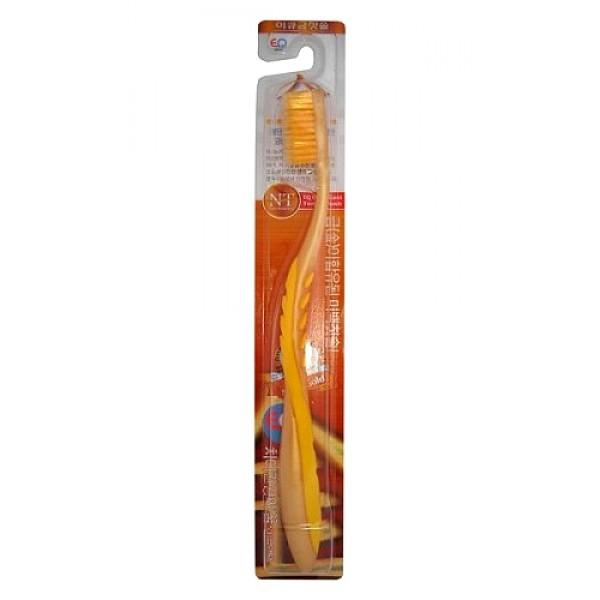 зубная щетка со сверхтонкой двойной щетиной eq maxon nano gold toothbrush medium