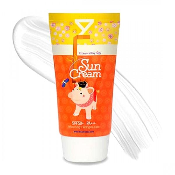 солнцезащитный крем spf 50+ • elizavecca sun cream spf 50+ milky piggy