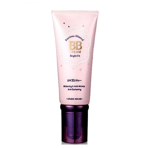 крем бб минеральный spf30/pa+++  etude house  precious mineral bb cream blooming fit spf30