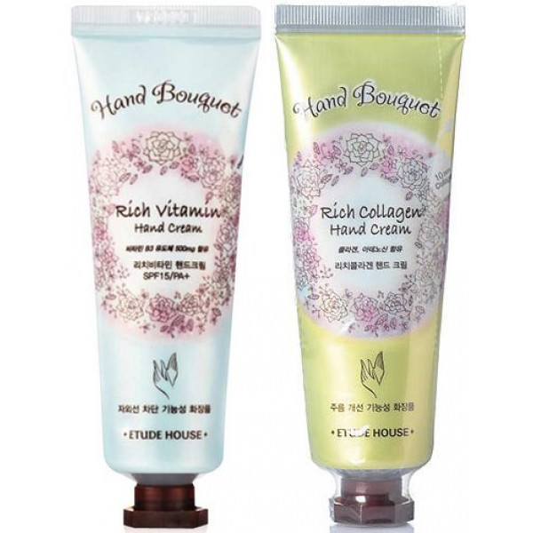 крем для рук etude house  hand bouguet rich hand cream