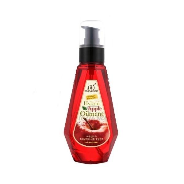 масло для волос яблочное gain cosmetic maruemsta hybrid apple oilmentMaruemsta Hybrid Apple Oilment. Масло для волос яблочное<br><br>Масло яблока не такое распространенное, как другие фруктовые, овощные или цветочные композиции, но польза от его применения огромна. Оно обладает ярко выраженными противогрибковыми и антисептическими свойствами. Яблочное масло великолепно для местного применения для кожи головы и волос.<br><br>В составе средства&amp;nbsp;яблочное масло насыщает волосяные луковицы витаминами и минералами, способствует устранению перхоти, увлажняет и питает кожу и волосы, придает блеск волосам.<br><br>Также в составе средства масло семян жожоба, которое подходит для любого типа волос. При жирных волосах масло очищает поры кожи головы от сала, а пересушенные, ломкие, секущиеся, окрашенные и ослабленные волосы – питает и восстанавливает. Масло проникает вглубь, насыщая и питая поры и волосяные фолликулы. Масло полностью впитывается кожей головы и волосами, не утяжеляя их и не создавая жирной пленки, защищает волосы от негативного воздействия внешних факторов, сохраняет влагу внутри.<br><br>Средство оберегает локоны при нагревании во время использования фена, благодаря чему они не так сильно ломаются. При регулярном применении масла волосы становятся сильными, упругими, восстанавливается структура волос, исчезают секущиеся кончики.<br><br>Способ применения: Нанести на влажные чистые волосы, высушить феном и сделать укладку.<br><br>Объем: 150 мл<br>