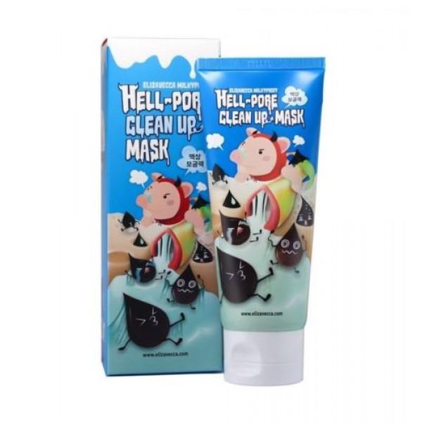 маска-пленка для очищения пор elizavecca hell-pore clean up maskHell-Pore Clean Up Mask. Маска-пленка для очищения пор<br><br>Одним из важнейших этапов ухода за кожей является ее глубокое очищение. Для этого можно прибегнуть к услугам профессионалов, посетив салон красоты, а можно сделать это и самостоятельно, в домашних условиях.<br><br>Маска-пленка от Elizavecca поможет глубоко очистить кожу от различных загрязнений. Маска застывает на коже, а при удалении с кожи захватывает с собой и все, что создает благоприятные условия для размножения бактерий и образования воспалений, угрей и прыщей. Пыль, остатки декоративной косметики, ороговевшие частицы, секрет сальных желёз и содержимое забитых пор – всё это прекрасно удаляется вместе с маской с поверхности кожи.<br><br>В составе маски угольный порошок, который является прекрасным абсорбентом и детоксом, вытягивает из пор кожи загрязнения и выводит токсины. Уголь ухаживает за любым типом кожи, но особенно рекомендуется для жирной и пористой, успешно используется для решения проблемы с прыщами. При регулярном применении способствует снижению жирности и удалению черных точек, оказывает омолаживающее действие.<br><br>Также в составе средства комплекс растительных экстрактов, которые увлажняют и успокаивают кожу, оказывают противовоспалительное действие, регулируют работу сальных желез и способствуют сужению пор, снимают раздражения и покраснения.<br><br>При использовании маски улучшается кровоснабжение в мелких капиллярах кожного покрова, благодаря чему улучшается цвет лица, кожа становится гладкой и мягкой.<br><br>Способ применения: Нанести маску тонким слоем на лицо, очищенное от косметики, избегая области вокруг глаз и губ. Через 15 мин аккуратно снять маску движением снизу-вверх.<br>