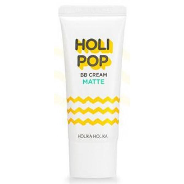 бб крем матирующий holika holika holipop bb cream matteHolipop BB Cream Matte.&amp;nbsp;ББ крем матирующий<br><br>Новинка от Holika Holika – легкие бб-кремы для ежедневного применения. Позволяют создать естественный макияж без утяжеления кожи. Легко распределяются, быстро подстраиваются под тон кожи, сливаются с ней, не оставляя границ, делают кожу гладкой и шелковистой.<br><br>В составе кремов запатентованная формула Polar Barrier™, которая обеспечивает кожу надежной защитой и минимизирует агрессивное воздействие окружающей среды. Солнцезащитный фильтр SPF30 PA++ предупреждает появление солнечных ожогов, пигментации и фотостарение кожи.<br><br>Справиться с жирным блеском, продлить стойкость макияжа, сохранить его в течение длительного времени безупречным, а лицо свежим и ухоженным помогает матирующий бб-крем.<br><br>Экстракты центеллы азиатской, портулака и другие натуральные компоненты способствуют нормализации работы сальных желез, контролируют появление жирного блеска.<br><br>ББ-крем успокаивает и смягчает кожу, оказывает противовоспалительное и оздоравливающее действие, поэтому идеален для жирной и комбинированной кожи.<br><br>Способ применения: Нанести на очищенную и тонизированную кожу, равномерно распределить, подождать некоторое время, пока крем усядется, и продолжить нанесение макияжа.<br><br>Объём: 30 мл<br>