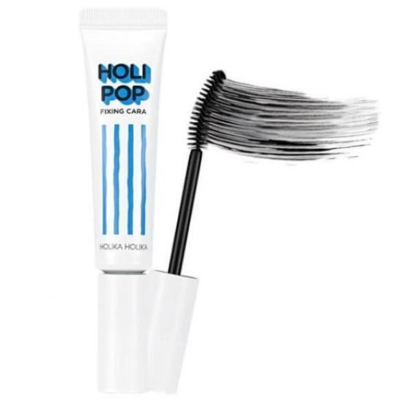 подкручивающая тушь holika holika holipop fixing caraHolipop Fixing Cara.&amp;nbsp;Подкручивающая тушь<br><br>Вместе с этой тушью вам больше не придется беспокоиться о безупречности своего макияжа! Тушь Holipop Fixing Cara – надежное средство для создания потрясающих ресниц.<br><br>Данная тушь является водостойкой, что не позволит ей смыться или сбиться в комки в течение дня. Она наносится ровным слоем и не склеивает реснички. Кроме того, специальная щеточка позволяет закручивать ресницы во время нанесения туши и фиксировать их. Вам больше не придется тратить лишнее время на закручивание ресниц – эта тушь все сделает за вас.<br><br>Кроме того, эта тушь является не только косметическим средством. В ее состав входят масла марулы и рисовых отрубей. Они интенсивно питают реснички, обеспечивают их увлажнение. Насыщают витаминами, минералами и микроэлементами.<br><br>Регулярное использование этой туши поможет вашим ресничкам в росте и укреплении, сделает их густыми и здоровыми.<br><br>Используйте эту тушь ежедневно, и уже скоро сможете похвастаться подругам не только профессиональным стойким макияжем, но и здоровыми, крепкими ресницами. Забудьте о выпадающих, тонких и коротких ресничках вместе с этой тушью.<br><br>Способ применения: Нанесите тушь с помощью щеточки от корней до кончиков.<br><br>Объем: 7 мл<br>
