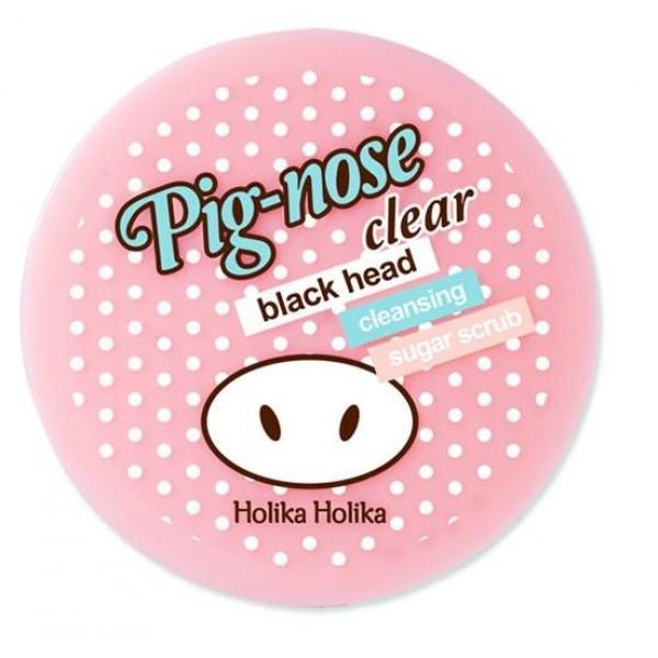очищающий сахарный скраб holika holika pig nose clear black head cleansing sugar scrubPig Nose Clear Black Head Cleansing Sugar Scrub.&amp;nbsp;Очищающий сахарный скраб<br><br>Эффективный скраб по борьбе с черными точками в области Т-Зоны.<br><br>Розовая глина, входящая в состав, эффективно абсорбирует загрязнения и избытки кожного сала.<br><br>Экстракты алоэ вера и лимона глубоко увлажняют, отбеливают и успокаивают кожу.<br><br>Скраб содержит частички сахара, который мягко скрабирует и полирует кожу, оставляя ее чистой и свежей. Это средство действует особо эффективно с другими средствами серии от Holika Holika.<br><br>Способ применения: возьмите небольшое количество средства и массажными движениями нанесите на область Т-Зоны. Массируйте в течение 1-2 минут и смойте теплой водой.<br><br>Объем: 30 мл<br>