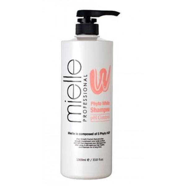 шампунь с рн-контролем jps mielle phyto white shampooMielle Phyto White Shampoo.&amp;nbsp;Шампунь с РН-контролем<br><br>Шампунь подходит для ежедневного ухода за волосами любого типа, особенно рекомендуется для кожи головы с повышенной чувствительностью.<br><br>Специально разработанная формула на основе растительных экстрактов, способствует мягкому очищению от повседневных загрязнений, отмерших частиц эпидермиса и кожного жира, не нарушая при этом барьерные функции кожи, не вызывая сухости и раздражений, способствует поддержанию оптимального pH-баланса.<br><br>В составе шампуня протеины овса, экстракты солодки, грецкого ореха, персика, гинкго билоба, которые увлажняют и питают, как волосы, так и кожу головы, оказывают противовоспалительное и восстанавливающее действие. При регулярном применении волосы становятся гладкими, блестящими, сильными и упругими.<br><br>Способ применения: Нанести шампунь на влажные волосы и кожу головы, аккуратно помассировать, затем промыть водой.<br><br>Объём: 1000 мл<br>