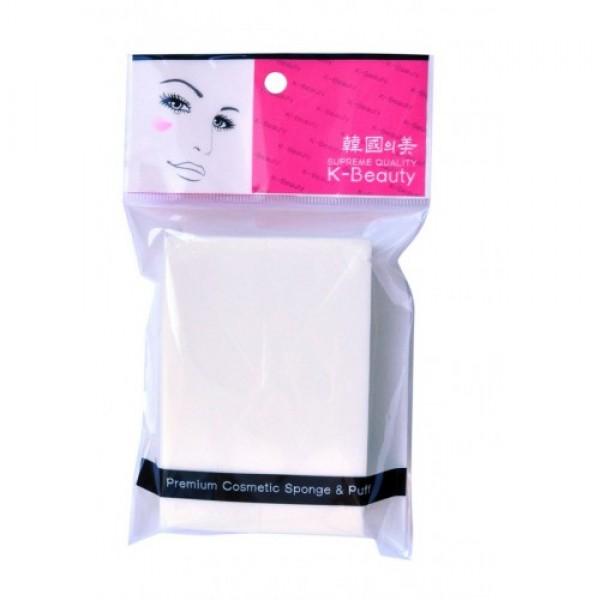 спонж косметический прямоугольник 6 сегментов k-beauty premium cosmetic sponge &amp; puffPremium Cosmetic Sponge &amp;amp; Puff. Спонж косметический Прямоугольник 6 сегментов<br><br>Косметический спонж предназначен для нанесения тональных средств (корректора, тонального крема, румян, пудры и т.д.), а также коррекции макияжа. Спонж позволяет равномерно распределить не только сухие, но и кремовые текстуры, а его удобная треугольная форма подходит для обработки таких труднодоступных зон, как область вокруг глаз и носогубные складки.<br><br>Упаковка состоит из 6 отрывных сегментов.<br><br>Мягкий и нежный спонж не травмирует, подходит даже для чувствительной кожи.<br><br>Способ применения: мягко прикоснитесь спонжем к средству, нанесите на лицо и растушуйте. Можно использовать как сухой, так и влажный спонж. По мере загрязнения мойте спонж мылом и сушите вдали от источников тепла. Рекомендуется менять спонж через 1-3 месяца (в зависимости от частоты использования).<br><br>Меры предосторожности: используйте спонж только по назначению. Держите в местах, недоступных для детей.<br><br>Состав: SBR (стирол-бутадиеновая резина).<br><br>Количество: 1 шт<br><br>Вес г: 4.50000000