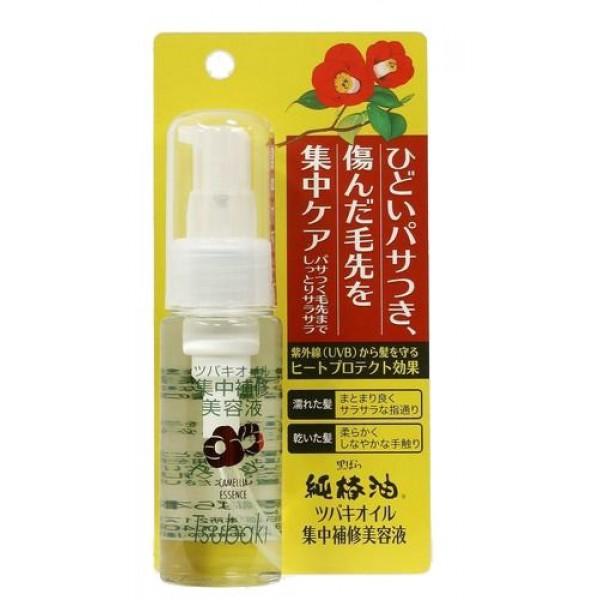 эссенция восстанавливающая c маслом камелии kurobara camellia oil repair hair essenceCamellia Oil Repair Hair Essence. Эссенция восстанавливающая c маслом камелии японской рекомендуется для тонких, сухих, ломких волос, а также волос, повреждённых окрашиванием и химической завивкой.<br><br>За счёт входящего в состав масла семян камелии маска смягчает и питает волосы, компенсирует потерю естественной влаги, сглаживает поверхность волос, повышает прочность и эластичность, возвращает здоровый блеск тусклым безжизненным волосам.<br><br>Натуральное масло семян камелии&amp;nbsp; в составе маски удивительно смягчает и питает тонкие, ослабленные волосы, придаёт естественный живой блеск.&amp;nbsp; Благодаря удивительному свойству проникать в структуру волосяного стержня, масло восстанавливает повреждённые участки кутикулы волоса, усиливает защиту хрупких и ломких волос, препятствует появлению секущихся кончиков, повышает прочность и эластичность.<br><br>Эссенция предназначена для особого ухода за волосами в течение всего дня. Восстанавливает волосы, поддерживает необходимый баланс влаги, защищает от внешних воздействий, придаёт блеск. Теплозащитные свойства эссенции позволяют удерживать влагу даже при сушке волос феном. Обеспечивает защиту от УФ - лучей.<br>Обладает&amp;nbsp; лёгким цветочным ароматом. Наносится на чистые волосы, не смывается. Не оставляет ощущения липкости после нанесения.<br><br>Способ применения: нанести на влажные чистые волосы (можно на сухие или слегка подсушенные полотенцем волосы), равномерно распределить по всей длине волос, не смывая, высушить волосы феном (при необходимости или при желании).<br><br>Меры предосторожности: не используйте средство, если оно вызывает покраснение, раздражение, зуд или воспаление кожи головы и проконсультируйтесь с врачом-дерматологом. Избегайте попадания в глаза, при попадании сразу же промойте глаза водой. Храните в&amp;nbsp; недоступных для детей местах.<br><br>Состав: циклометикон, диметикон, каприлил (ненасыщенной ж