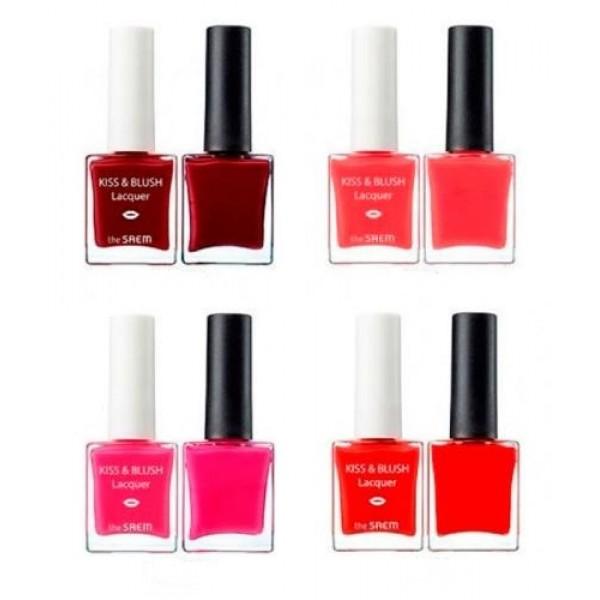 набор лак для ногтей + блеск для губ и румяна the saem lip nail kiss &amp; blush lacquer &amp; kissholic nailsLip Nail Kiss &amp;amp; Blush Lacquer &amp;amp; Kissholic Nails.&amp;nbsp;Набор лак для ногтей + блеск для губ и румяна<br><br>Набор, который включает блеск и румяна для губ (2 в 1), а также лак для ногтей. Первое средство является универсальным и обладает приятной текстурой, которая образует шелковистое покрытие с легким мерцающим блеском. Лак позволяет получить прочный слой с ярким и сочным цветом.<br><br>На выбор предлагает несколько оттенков:<br><br><br>CR01<br><br>OR01<br><br>PK03<br><br>RD02<br><br><br>Блеск бережно заботится о коже, так как содержит природные ингредиенты, которые:<br><br><br>Насыщают влагой и ценными веществами.<br><br>Устраняют сухость.<br><br>Придают мягкость.<br><br>Заживляют трещинки.<br><br>Способствуют обновлению клеток.<br><br>Оберегают от внешних воздействий.<br><br><br>Активные компоненты лака питают ногтевую пластину, укрепляют ее, препятствуют ломкости и расслаиванию, дарят здоровый блеск. Используя набор, вы сможете создать безупречный маникюр и макияж, который удивит стойкостью и насыщенностью. Подарите себе роскошные декоративные средства, которые позаботятся о вашей коже.<br><br>Способ применения: аппликатором точечно нанести на кожу губ и щек, кончиками пальцев аккуратно распределить по поверхности кожи губ и щек. Для более насыщенного оттенка нанести блеск повторно. На чистые сухие ногти нанест лак для ногтей, дать высохнуть.<br><br>Вес: 9,5 г + 9.5 г<br><br>Вес г: 19.00000000