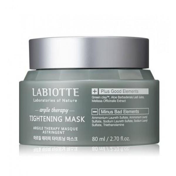 маска для лица поросужающая labiotte labiotte argile therapy maskLabiotte Argile Therapy Mask. Маска для лица поросужающая<br><br>Маска содержит зеленую глину, экстракт алоэ вера, экстракт мелиссы и т.д. Глиняная маска обладает подсушивающим и вяжущими свойствами, контролирует работу сальных желез, способствует очищению пор.<br><br>Зеленая глина работает в нескольких направлениях: подтягивает, питает и тонизирует кожу. В сочетании с отварами трав и оливковым маслом в составе маска придает коже ровный тон, бархатистость и гладкость.<br><br>Экстракт алоэ вера борется в воспалениями, антибактериальная защита, успокаивает кожу.<br><br>Экстракт мелиссы успокаивает, снимает покраснения и раздражения.<br><br>Изготавливается в нескольких вариантах:<br><br><br>Argile Therapy Tightening Mask - Маска для лица поросужающая<br><br><br>Маска отлично справляется с жирным блеском, улучшает тон кожи и придает ей здоровое сияние, способствует очищению пор.<br><br><br>Argile Therapy Oil Mask - Маска для лица успокаивающая поросужающая<br><br><br>Маска обладает успокаивающим эффектом, восстанавливает гладкость и мягкость кожи, возвращает коже здоровый тон и доступ кислорода. Обладает легким поросужающим действием.<br><br>Способ применения:<br><br><br>Используйте маску в вечернее время.<br><br>Очистите кожу тонером.<br><br>Нанесите маску на кожу лица, избегая области глаз и губ.<br><br>Промассируйте в течение 3-5 мин, затем удалите маску мягкой тканью.<br><br>Умойтесь теплой водой и протрите кожу лосьоном.<br><br><br>Объем: 80 мл<br>