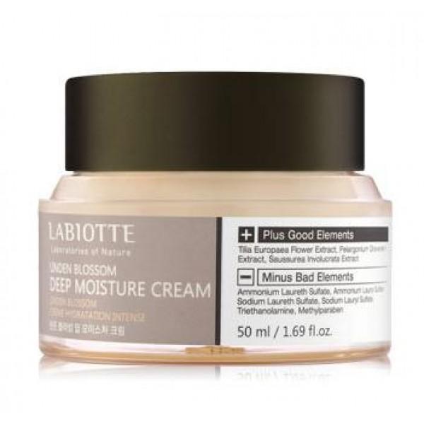крем глубокоувлажняющий labiotte linden blossom deep moisture creamLinden Blossom Deep Moisture Cream. Крем глубокоувлажняющий<br><br>Линия содержит экстракт липы, экстракт снежного лотоса, масло герани и т.д.<br><br>Интенсивное увлажнение помогает смягчить эпидермис кожи, восстановить упругость и эластичность тканей. Тонизирует жизненные силы, укрепляет кожный барьер, восстанавливает свежесть и яркость кожи. Предотвращает старение кожи, стимулируя клеточную энергию и отодвигая появление первых возрастных изменений. Экстракт лотоса обладает успокаивающим действием, укрепляет клетки кожи, замедляют процессы старения, делают кожу гладкой.<br><br>Экстракт герани нормализует работу сальных желез у жирной кожи, устраняет воспаления и шелушения у чувствительной и поврежденной кожи, отлично увлажняет сухую кожу.<br><br>Способ применения: небольшое количество средства нанесите на кожу мягкими, массирующими движениями.<br><br>Объем:&amp;nbsp;50 мл<br>