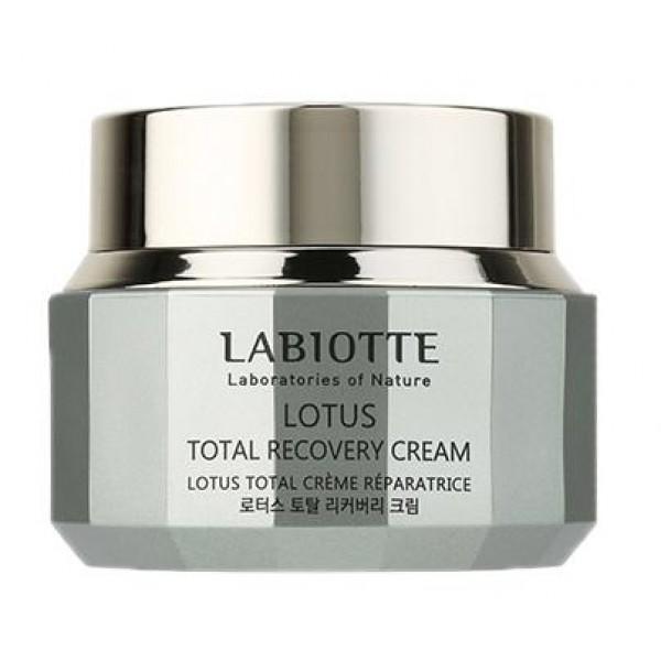 крем восстанавливающий labiotte lotus total recovery creamLotus Total Recovery Cream. Крем восстанавливающий<br><br>Линия содержит формулу 5-Lotus complex, растительный комплекс, аденозин, ниацинамид и т.д.<br><br>Питание и восстановление шелковистой текстуры кожи. Улучшает липидный барьер кожи, создает защитное покрытие, блокирующее испарение влаги.<br><br>Антивозрастной уход, предотвращает преждевременное старение, обладает способностью восстанавливать и стимулировать рост коллагеновых волокон, восстанавливает молодость увядшей кожи.<br><br>Концентрированная эссенция поддерживает оптимальный гидро-баланс кожи, восстанавливает работу сальных желез, сохраняет здоровье кожи.<br><br>Способ применения: наносите крем мягкими, массирующими движениями.<br><br>Объем:&amp;nbsp;50 мл<br><br>&amp;nbsp;<br>