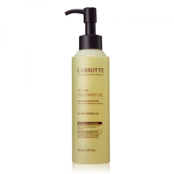 масло питательное для волос labiotte silk hair treatment oilSilk Hair Treatment Oil. Масло питательное для волос<br><br>Масло для волос содержит масло дамасской розы, комплекс из 6 натуральных экстрактов и т.д.<br><br>Масло с лечебным действием, восстанавливает шелковистость волос и укрепляет их здоровье. Придает волосам шелковистость, мягкость и эластичность.<br><br>Обладает глубоким питательным действием, создает защитное белковое покрытие, предотвращающее испарение влаги.<br><br>Способ применения:<br><br>1. Нанесите средство на чистые влажные волосы, распределите по всей длине волос.<br><br>2. Нанесите средство на сухие волосы на поврежденные участки волос.<br><br>Используйте средство по мере необходимости.<br><br>Объем:&amp;nbsp;150 мл<br>