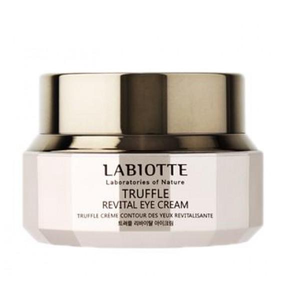 крем для глаз восстанавливающий с экстрактом трюфеля labiotte truffle revital eye creamTruffle Revital Eye Cream. Крем для глаз восстанавливающий с экстрактом трюфеля<br><br>Линия содержит экстракт трюфеля, экстракт омелы, экстракт плюща, ферментированный экстракт черных дрожжей.<br><br>Витаминная линия восстанавливает шелковистую текстуру кожи, улучшает эластичность кожи, укрепляет плотность и восстанавливает поврежденную текстуру кожи. Пробуждает сияние кожи, помогает сохранить молодость.<br><br>Ферментация - это процесс брожения осуществляемый разными видами и штаммами микроорганизмов (дрожжи, молочнокислые и другие бактерии). В процессе ферментации происходит процесс разложения органических веществ (преимущественно углеводов) с образованием других веществ и выделением химической энергии. Это происходит под действием ферментов (энзимов), содержащихся в клетках микроорганизмов. Составы, приготовленные таким образом, быстрее и глубже проникают в кожу, легче поглощаются и усваиваются кожей. Средства интенсивнее обычных, обогащены важными аминокислотами, жировыми кислотами, витаминами.<br><br>Экстракт трюфеля тонизирует жизненный тонус кожи, ухаживает за уставшей кожей.<br><br>Экстракт омелы и экстракт черных дрожжей прошел 120 часов ферментированную обработку, при низком температурном режиме.<br><br>Технология AZIDERM ™ активно восстанавливает энергию кожи.<br><br>Экстракт черных дрожжей получают из клеточных стенок пекарских дрожжей. Экстракт с высоким содержанием полисахарида (бета-глюкана) не только прекрасно увлажняет кожу, но и повышает иммунитет, защищает клетки кожи от повреждающего действия УФ излучения, стимулирует образование коллагена и гликопротеинов, что приводит к улучшению защитных механизмов кожи, повышает ее упругость и эластичность.<br><br>Крем для глаз обладает укрепляющим действием, препятствует появлению морщин и заломов кожи, способствует расслаблению тонуса кожи.<br><br>Эластичность кожи + увлажнение + питание + укрепление тургора кожи.<br><br