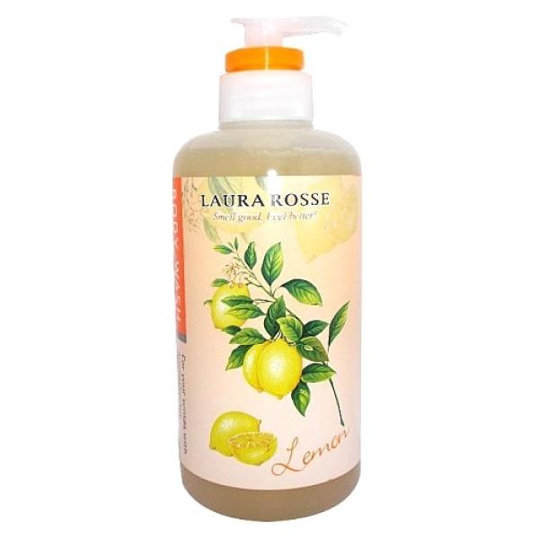 """жидкое мыло для тела """"ароматерапия - лимон"""" laura rosse body wash lemonBody Wash Lemon. Жидкое мыло для тела """"Ароматерапия - Лимон"""" содержит оливковое масло и масло дерева Ши. Прекрасно очищает кожу от любых загрязнений, делая ее гладкой и шелковистой.<br><br>Предназначено для ежедневного ухода за кожей.<br>Лимон издавна применяется в ароматерапии, его аромат тонизирует, улучшает работоспособность.<br><br>Способ применения: нанесите на мочалку соответствующее количество средства, разотрите до появления пены. Нанесите на тело массажными движениями, затем смойте.<br><br>Меры предосторожности: в случае несовместимости с вашей кожей прекратите использование. Не используйте при наличии ран, опухолей, экземы и других аномалий на коже. Если во время или после применения появляется покраснение, зуд, раздражение и пр., прекратите использование и обратитесь к дерматологу. Если продолжить применение, возможно появление осложнений. При попадании в глаза немедленно промойте водой. Держите в местах, недоступных для детей.<br><br>Состав: вода, лаурит сульфат натрия, кокамид DEA, кокамидопропилбетаин, поликватерниум-7, динатрия лаурит сульфосукцинат, динатрия кокоамфодиацетат, лимонная вода, PEG-20, лимонная кислота, поликватерниум-10, стеарат гликоль, бензофенон-5, экстракт ядра грецкого ореха, гиалуронат натрия, EDTA, метилхлороизотиазолинон, метилизотиазолинон, отдушка, краситель 19140, краситель 15985, краситель 61570.<br><br>500 мл.<br>"""
